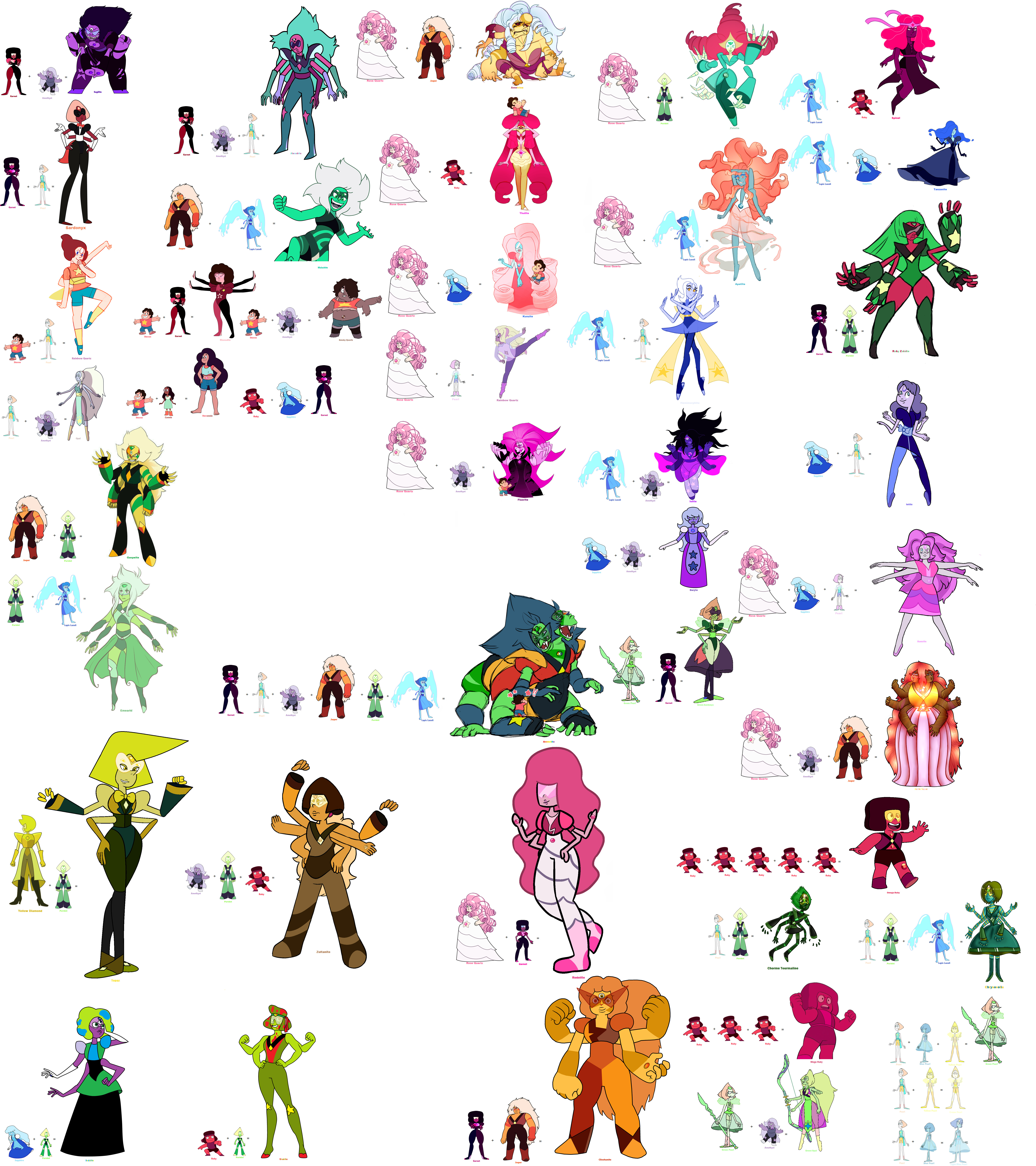 Crystal Gems Fusions 2 (UPDATE 08/06) by BFDIFan1234 on DeviantArt