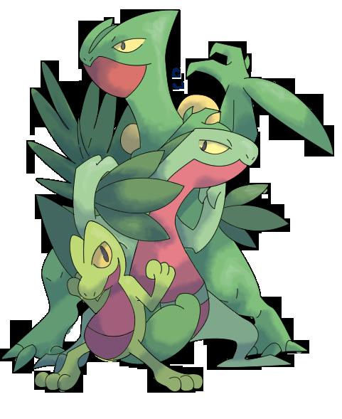 Treecko Evolution Line by CherubimonX on DeviantArt