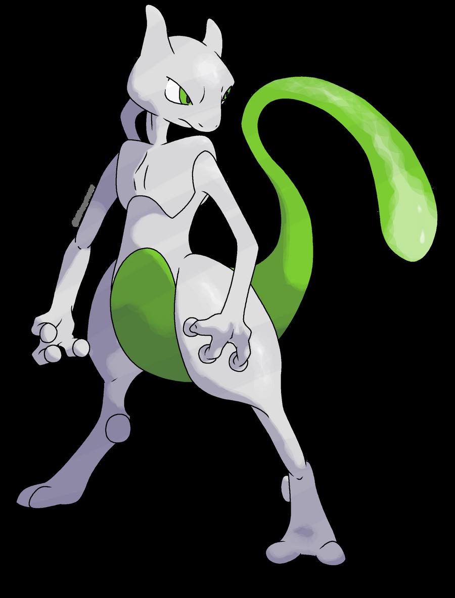 Shiny Mewtwo: Revamped by CherubimonX on DeviantArt