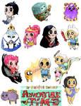 Adventure Time minis by Pasuteru-Usagi