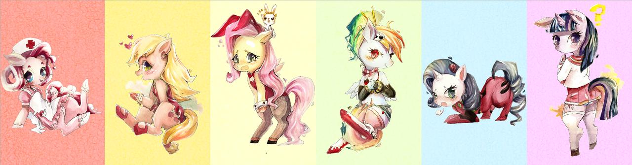 Anime Ponies by Pasuteru-Usagi