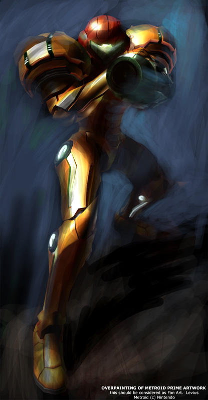 Overpaint of Metroid Prime by HiroshiSensei