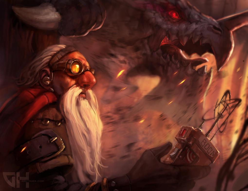 Dwarf-hunt by GreyHues