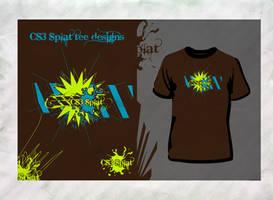 CS3 Splat Tee Design 01 by davelancel