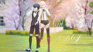MMD: Ciel and Alois (DL) by LITTLE-BLUEBELL
