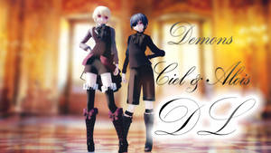 MMD: Ciel and Alois [demons] [DL REPLACED] by LITTLE-BLUEBELL