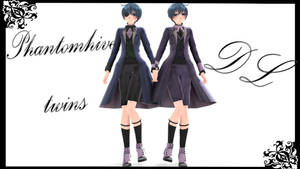 MMD || Black Butler: Phantomhive Twins [DL] by LITTLE-BLUEBELL