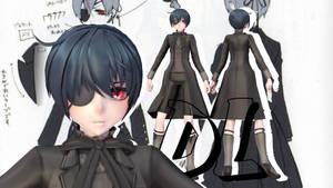 MMD || Black Butler: Demon Ciel UPDATE [DL] by LITTLE-BLUEBELL
