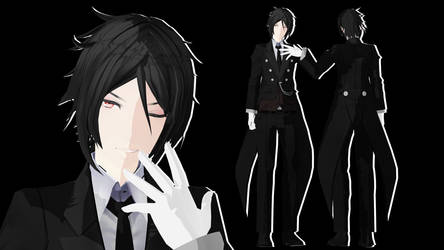 MMD || Black Butler: Tda Sebastian Michaelis [DL] by LITTLE-BLUEBELL