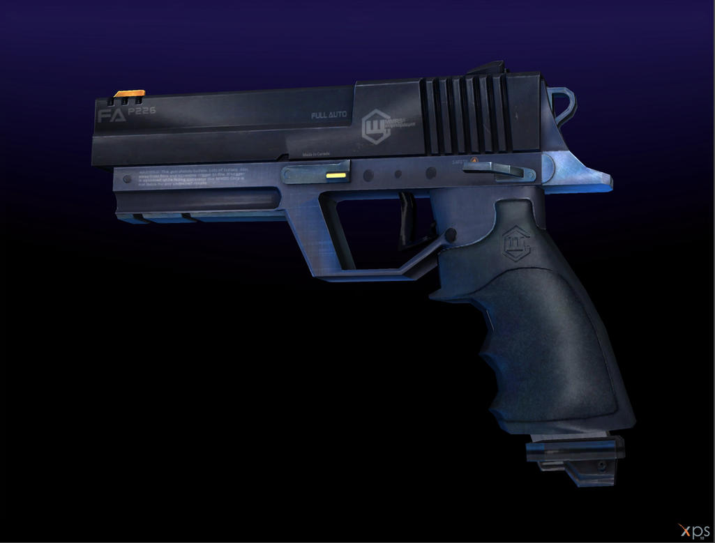 BURSTFIRE PISTOL [BLACKLIGHT : RETRIBUTION] by Goreface13