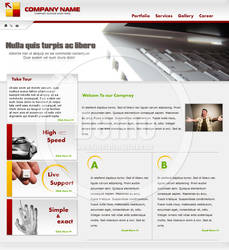 computer company website templ by Telpo