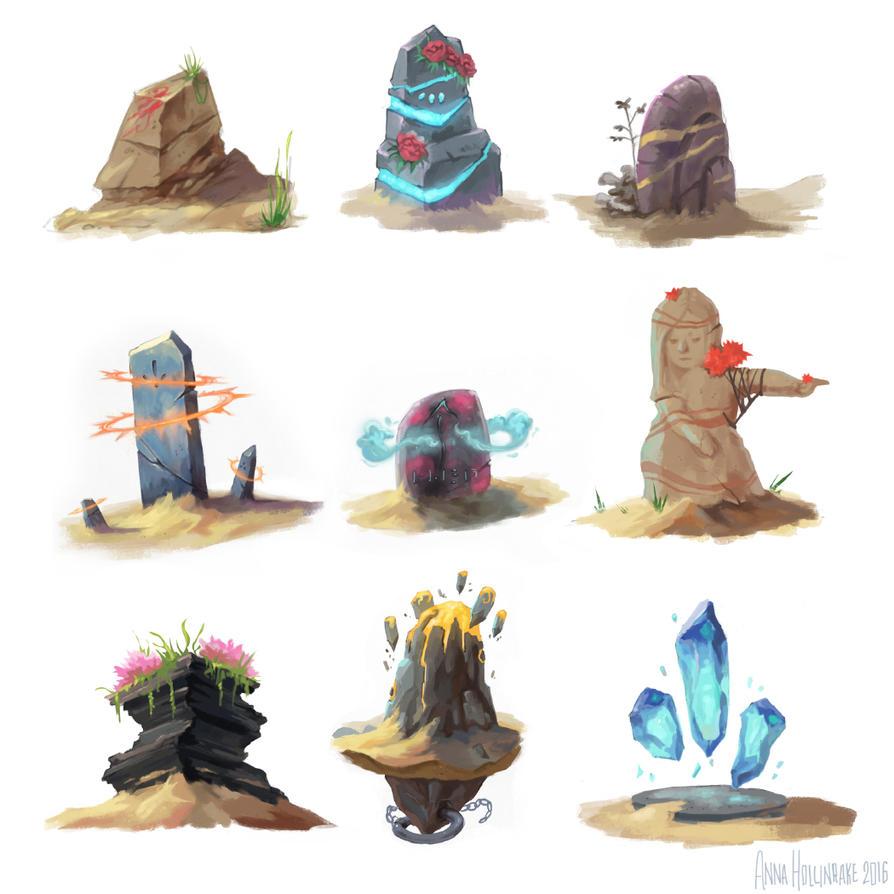 Desert Waystones by AnnaHollinrake