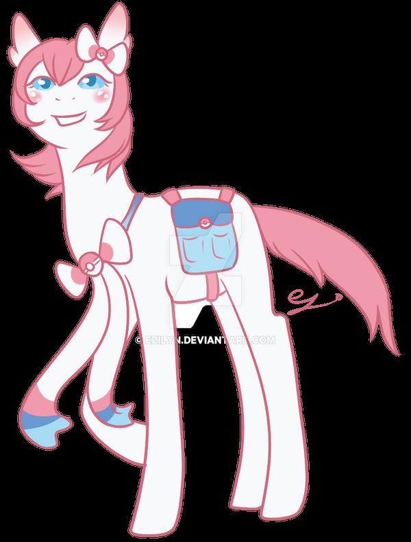 Sylveon Ponymon Trainer COMMISSION By Ezilyn