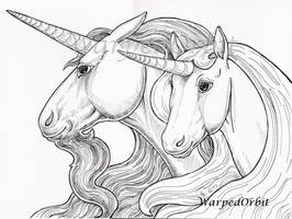 Unicorn Pair by WarpedOrbit