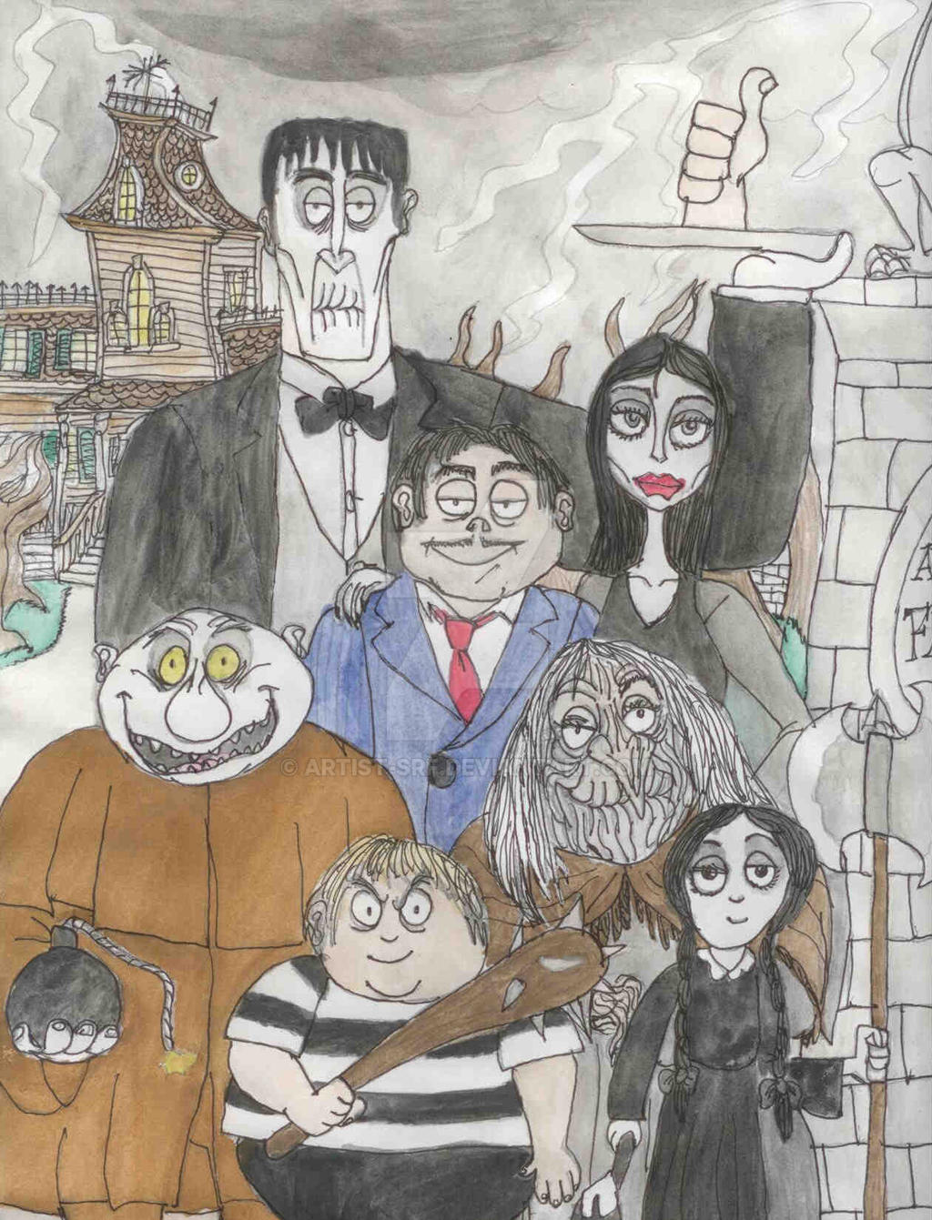 Burtonesque: The Addams Family by ARTIST-SRF