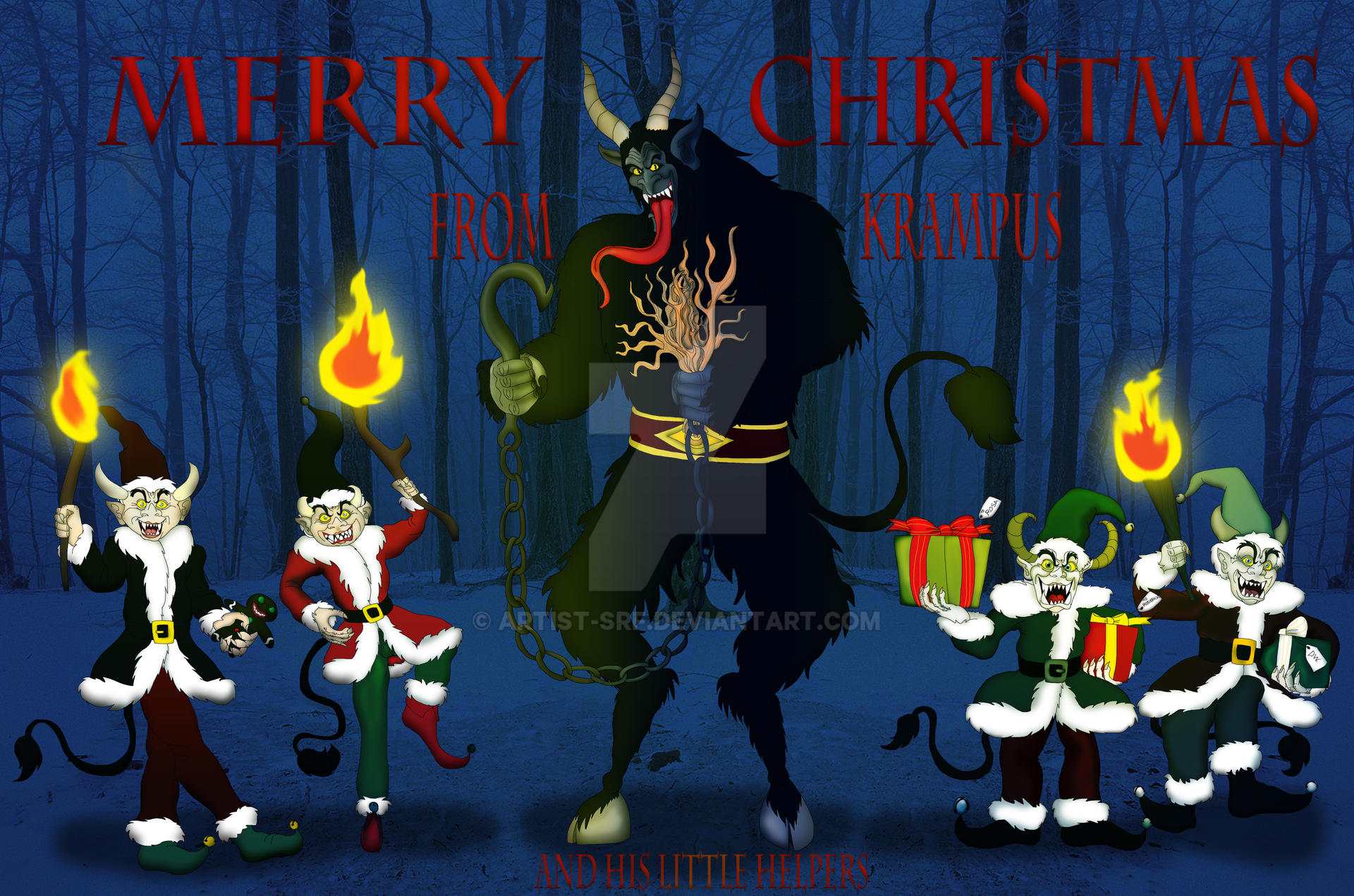 Krampus and his Little Helpers