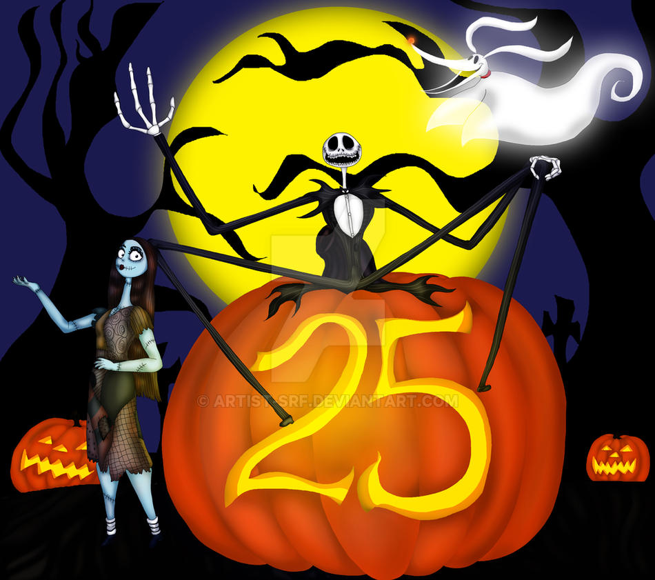 The Nightmare Before Christmas 25th Anniversary by ARTIST-SRF on ...