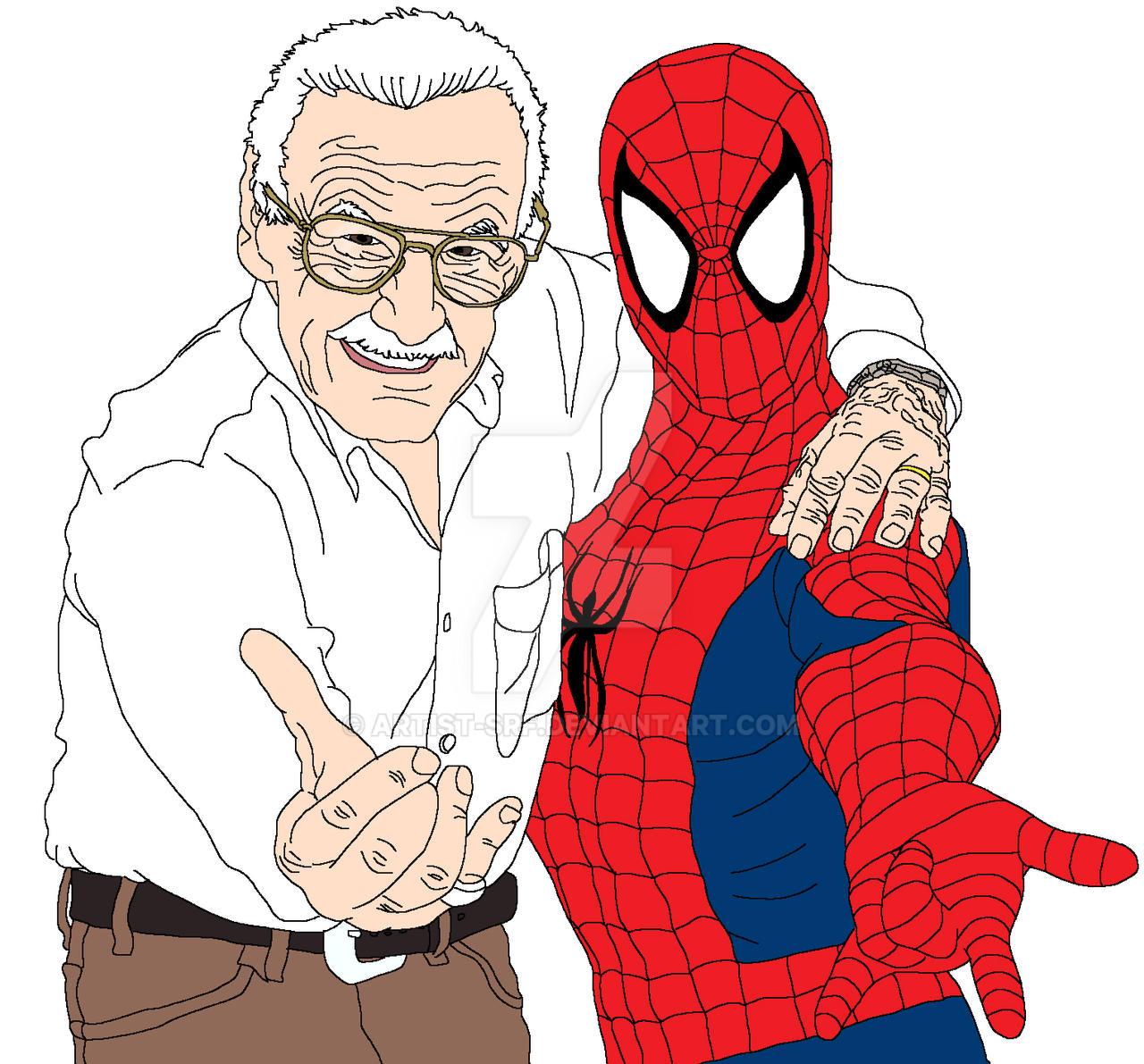 Stan Lee And Spider-Man By ARTIST-SRF On DeviantArt