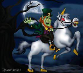 Leprechaun On Horseback