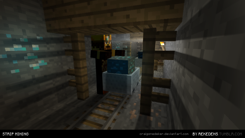 minecraft strip mining by craigsnedeker