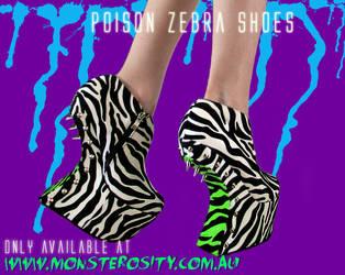 MONSTEROSITY 'Poison Zebra' Shoes - DIY by ArtificialFlav0ur