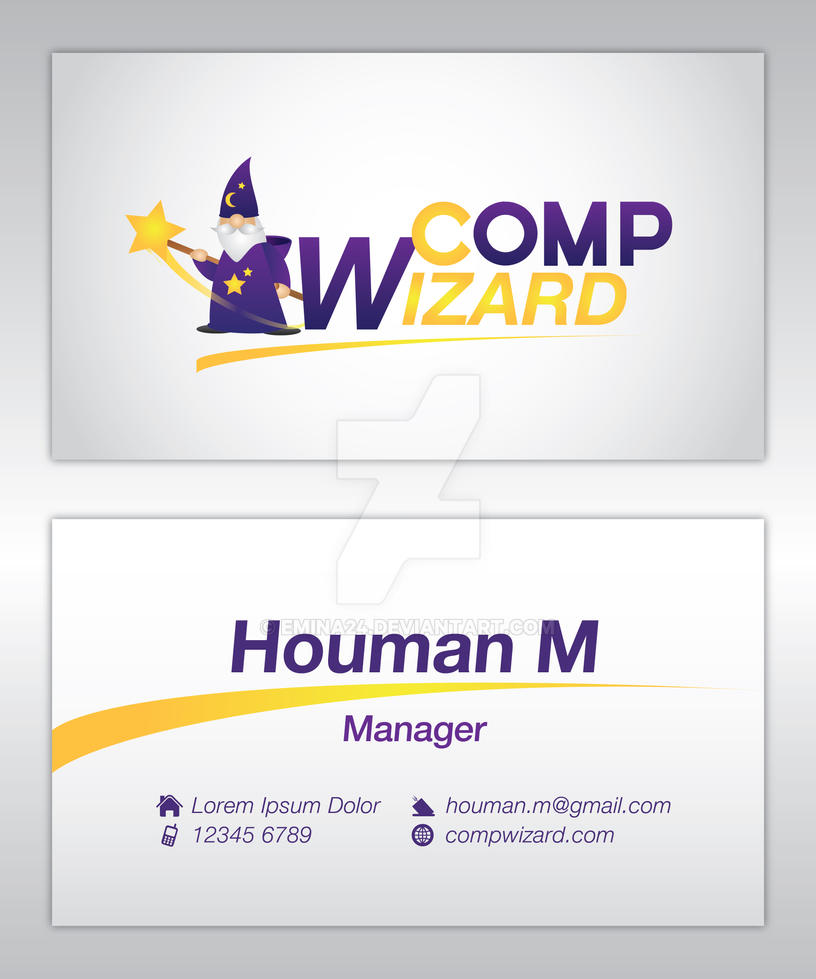 Comp Wizard Sample Business card by emina24 on DeviantArt
