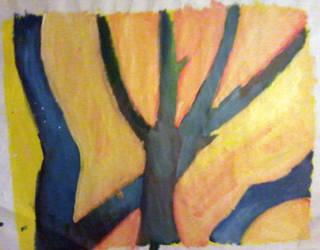 Blue Trees by Tea-Roll