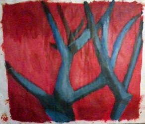 Blue Trees II by Tea-Roll