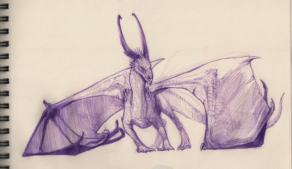 Violet ballpoint pen by grzanka