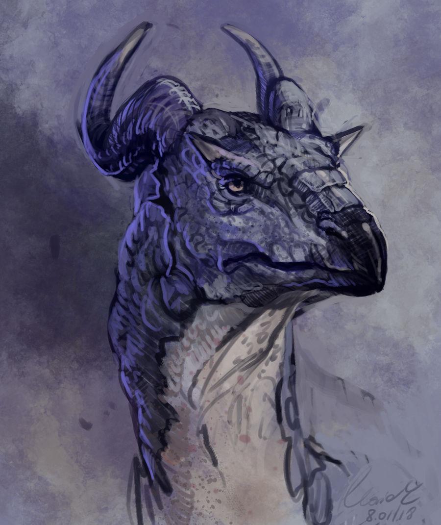Dragon done in Krita by grzanka