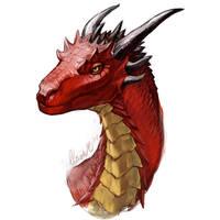 Red Dragon Sketch Redo by grzanka