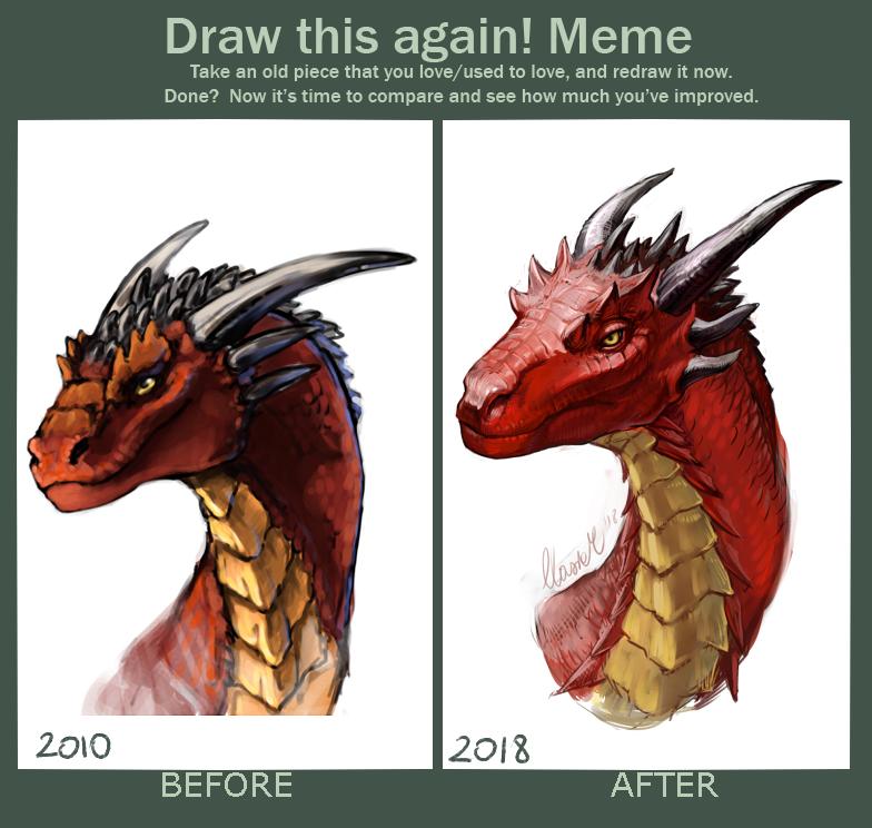 2010 - 2018 red dragon by grzanka