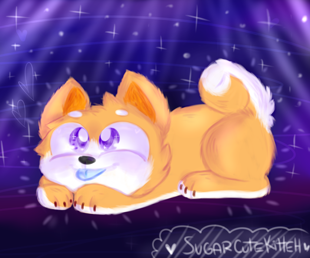 Space Doggo by mustard0