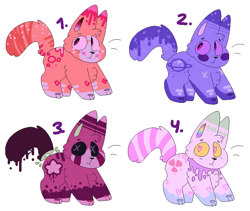 mORE and MORe adoptables by mustard0