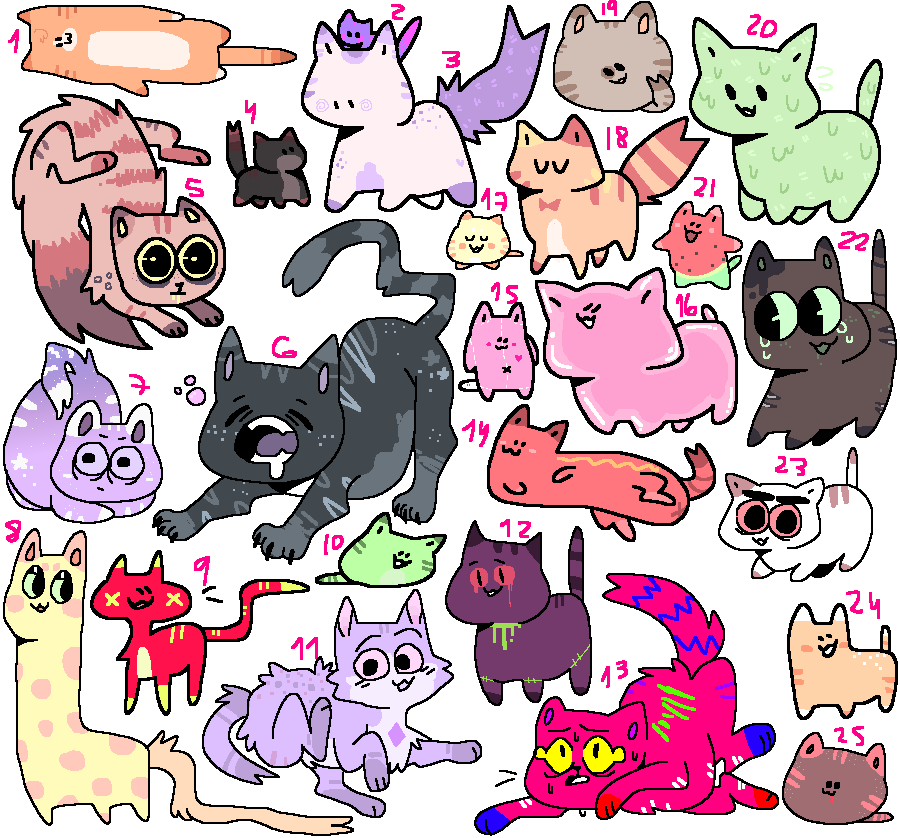 lovely cattos adoptables ! ( 17/25 ) open o w o by mustard0