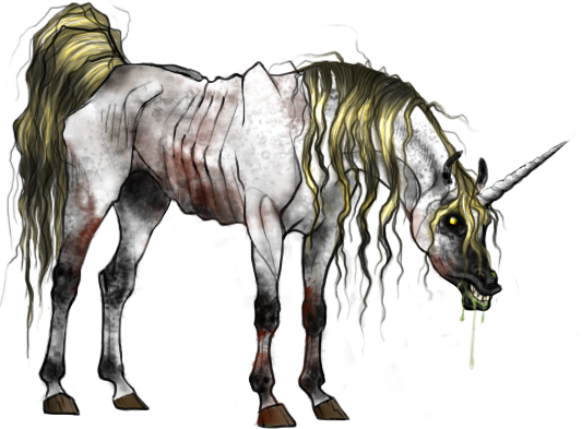 Zombie Unicorn by Warimu