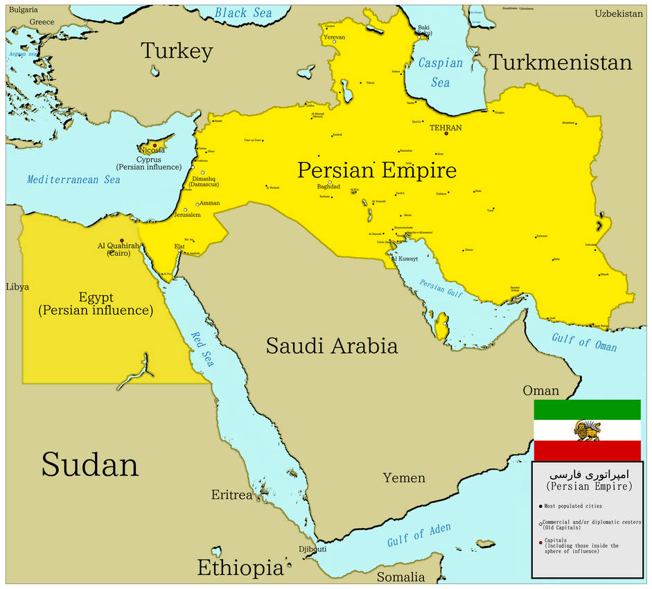 Persian Empire: The New Persian Empire Map By BrazilianNationalist On