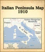 Italian peninsula map 1910 by BrazilianNationalist