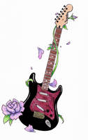 guitar tattoo by emptypromises13