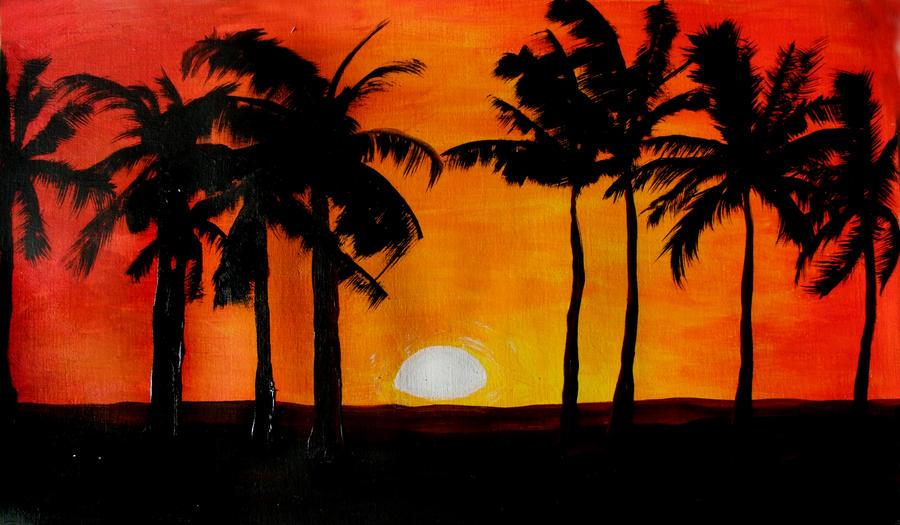 Palm Tree Sunset By Jarff On DeviantArt