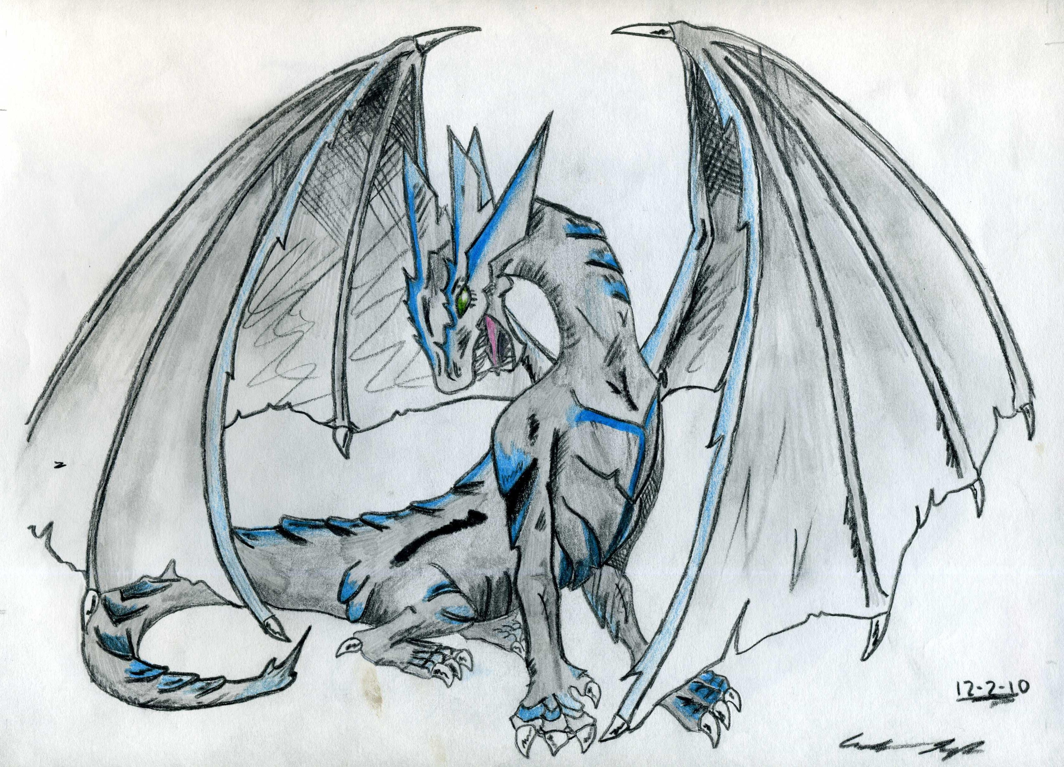 Ice Dragon by Wyldfire7 on DeviantArt