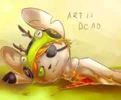 Art Is Dead. by Milkymousch
