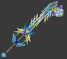 [Model Preview] KHUx Fan Keyblade - Ultima Key by makaihana975