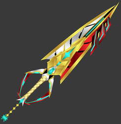 [3D Preview] Power to Protect (Xenoblade Keyblade) by makaihana975