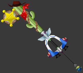 [3D Preview] Favourite Deputy (KH3 Keyblade) by makaihana975