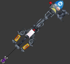 [3D Preview] Happy Gear (KH3 Keyblade) by makaihana975