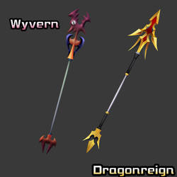 [3D Preview] Xaldin Lance - Wyvern + Dragonreign by makaihana975