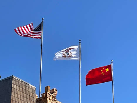 Joseph's Real Life - Flags at Chinatown