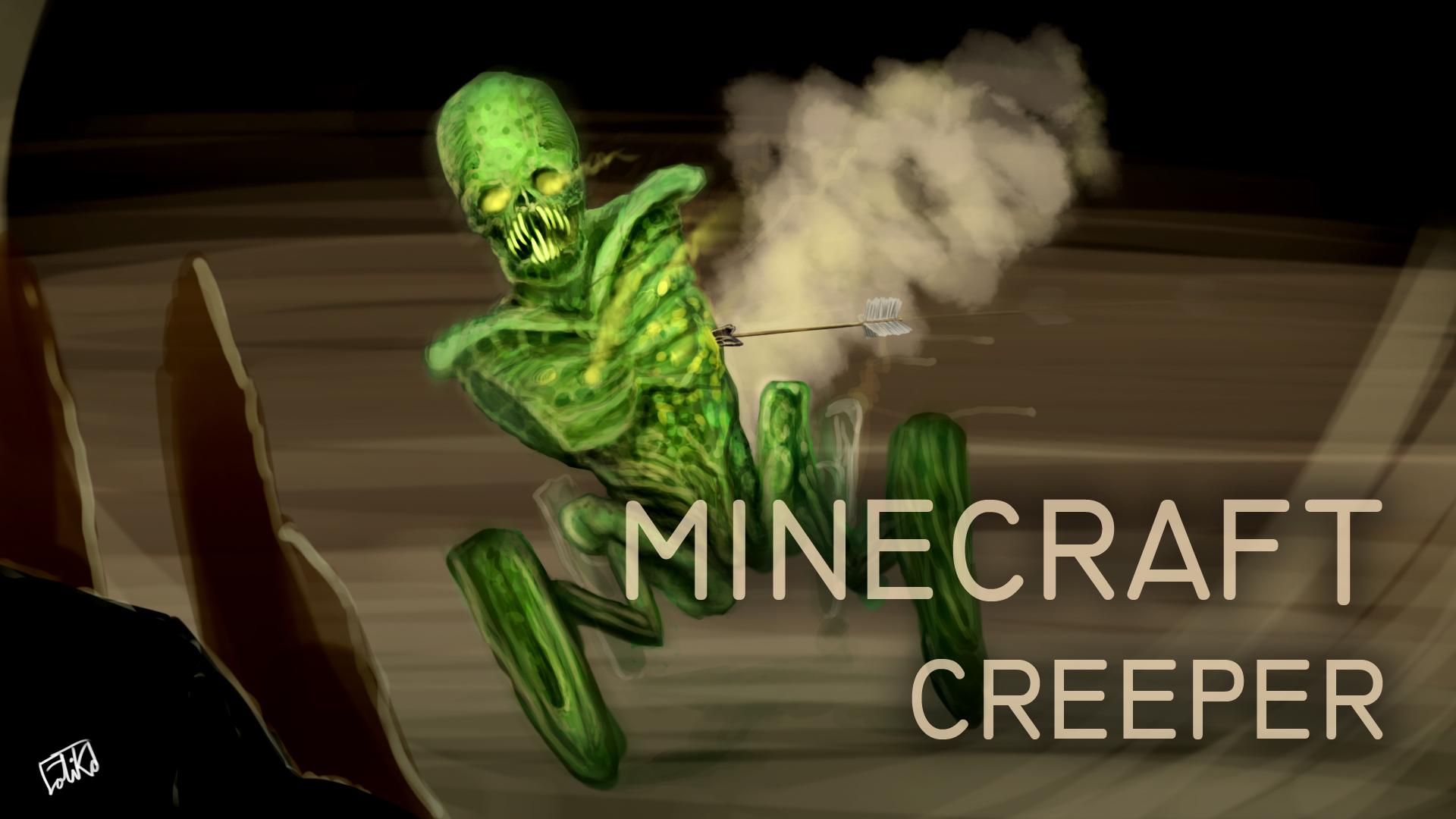 Amazing Wallpaper Minecraft Real Life - minecraft___creeper_art_1920x1080p_by_polikosaurio-d6a0lzj  Graphic_95584.jpg