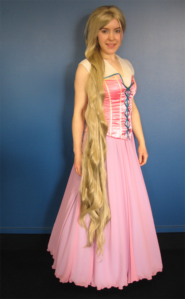 tangled disney rapunzel pink cosplay dress costume
